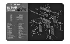 Tekmat Pistol Mat Sig P238 Blk