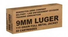 Rem 9mm 115gr Fmj Train