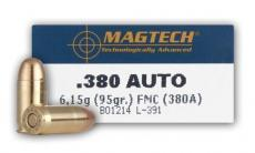 Magtech 380auto 95gr FMJ 20boxes of