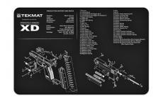 Tekmat Pistol Mat Sprngfld Xd Blk
