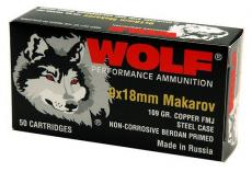 Wolf Handgun 9mmx18mm Makarov Full Metal