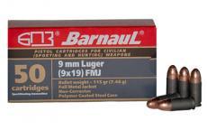 Barnaul 9mm Lgr 115gr Fmj115 50/1000