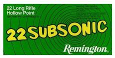 Remington Ammunition Subsonic 22 LR Hollow