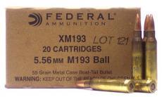 Federal XM 223 Rem/5.56 Nato FMJ