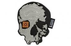 Topo Skull Patch - Grey