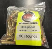 50rd TGD Enterprises 38 Special 158gr