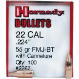 Hornady 22 Caliber Bullets (.224) 55
