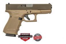 """Glock Inc 19gen4 9x19 4.02"""" 15rd"""