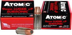 Atomic Ammo 9mm Luger Subsonic