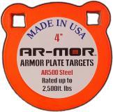 """Ar-mor 4"""" Ar500 Steel Gong"""