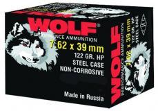 Wolf Performance 7.62mmx39mm Hollow Point 122
