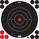 """Proshot 8b-whte-6pk 8"""" Splattershot Bullseye TRG"""