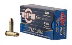 PPU .25 ACP 50gr FMJ 50-rds