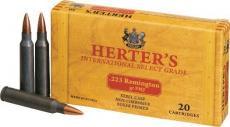 Herters 223rem Brass Case 55gr SP