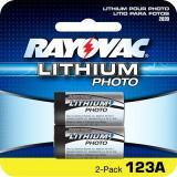 Rayovac Rl123a-2 CR 123 3 Volt