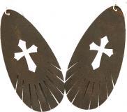 Vc Leather Cross Fringe Style